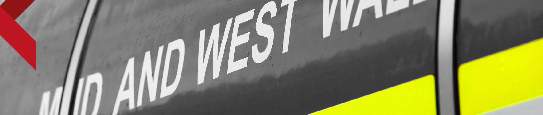 Close up of vehicle branding
