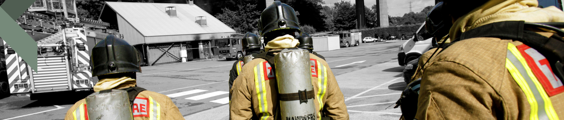 Fire fighters on training excercise