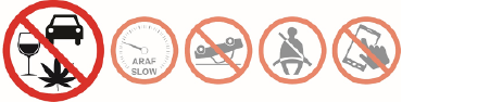 Fatal 5 Icons with Drinking Under the influence highlighted
